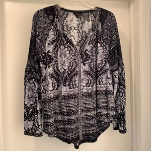 Lucky Brand Stylish Black and White top